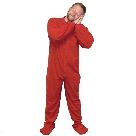 fleece footed pajamas footie drop seat new ebay