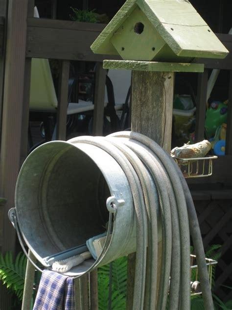 diy garden hose storage  garden glove