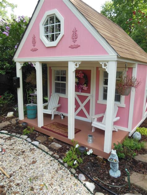Pink Cottage Playhouse by 1000 Images About Sooo Playhouse Ideas From Tiny
