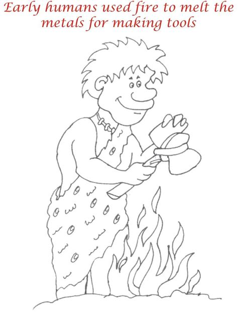 early humans coloring page early humans printable coloring page for kids 8