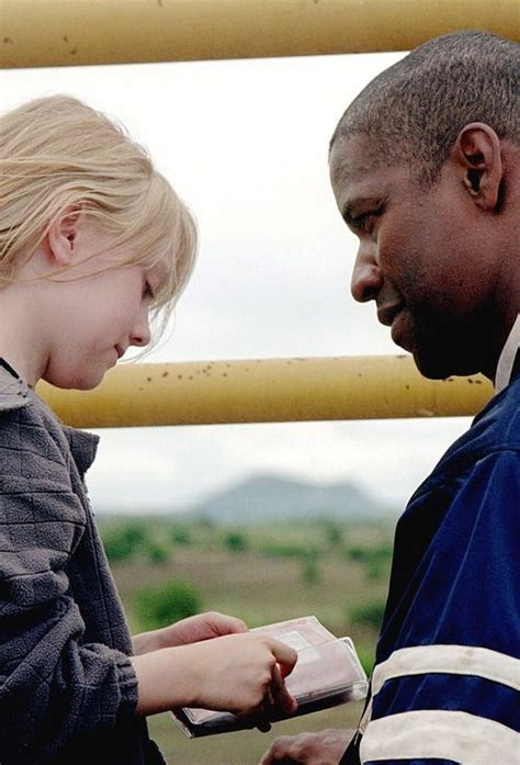 denzel washington dakota fanning dakota fanning denzel washington in on