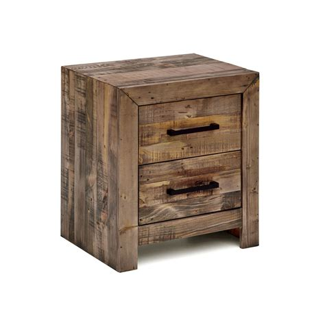 Bedside Table With Storage Boston Brand New Recycled Solid Pine Timber Bedside Table