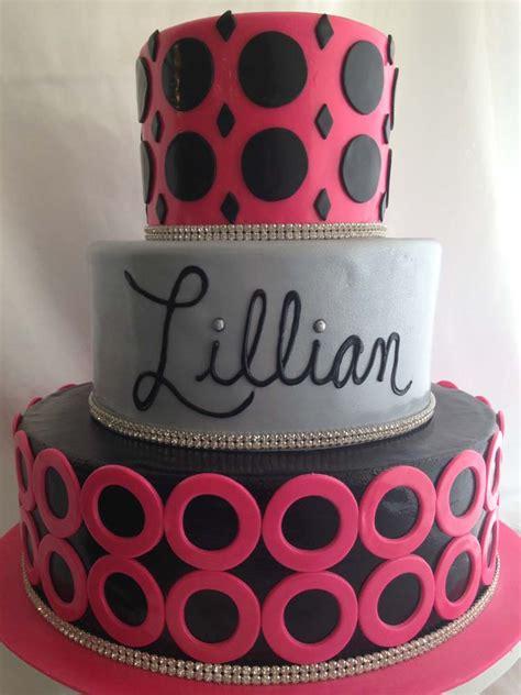 pink black silver cake granada hills los angeles  sweet design  sweet design