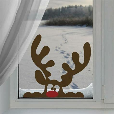 Fensterdeko Weihnachten Rentier fensterbilder zu weihnachten originelle bastelideen zum