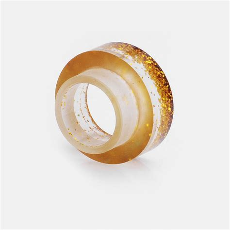 Acrylic 810 Driptip Wide Bore gold acrylic 11mm 810 wide bore drip tip for rda rta atomizer