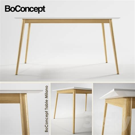 Modern Extendable Dining Table 3d Models Table Boconcept Milano