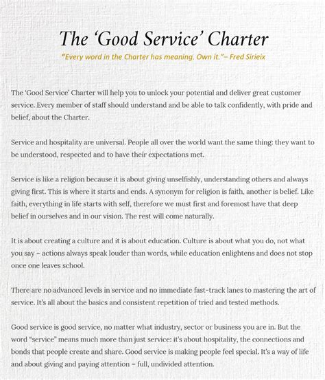 client service charter template gallery templates design