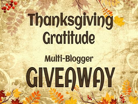 Thanksgiving Giveaways - plump and polished thanksgiving gratitude multi blogger giveaway