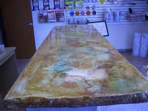 acid stain concrete countertop backyard ideas