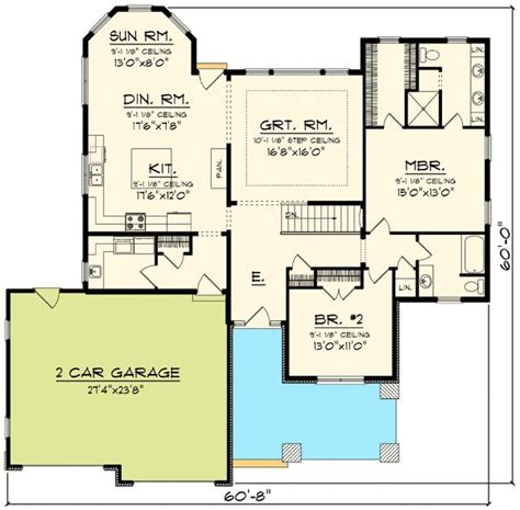 Ranch Floor Plans With Two Master Suites by 2 Bedroom Craftsman Ranch 89910ah Craftsman Northwest