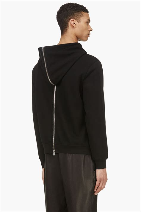 Hoodie Zipper Esp Dennizzy Clothing blk dnm black front to back zipper hoodie in black for lyst