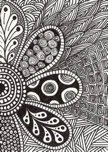 flower doodle free coloring pages of flower doodling