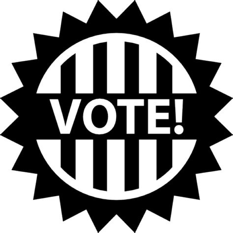 vote badge for political elections icons free