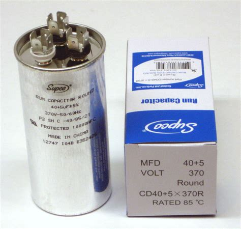 capacitor and air conditioner air conditioning hvac dual motor run capacitor 40 5 mfd 370 volt ebay