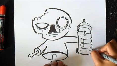imagenes chidas y faciles para dibujar c 243 mo dibujar un zombie con spray graffiti thinkd art