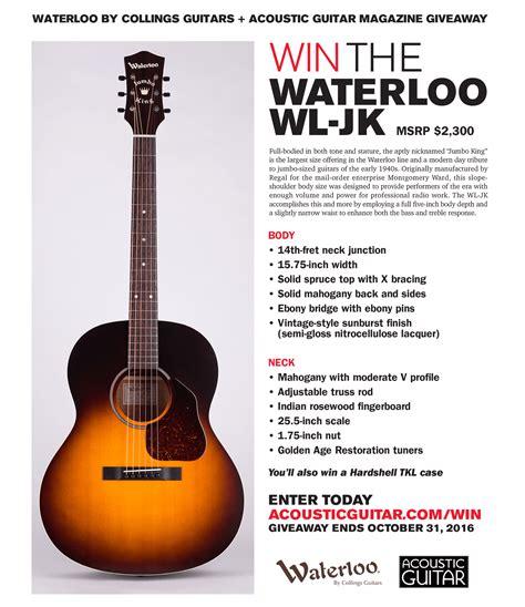 Acoustic Guitar Giveaway 2015 - win the waterloo wl jk acoustic guitar