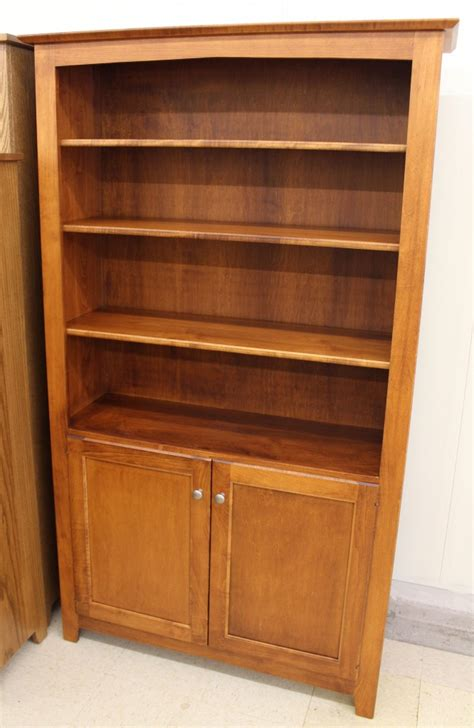 Wide Bookcase With Doors 6 Danville Bookcase With Doors 42 Wide Amish Traditions Wv
