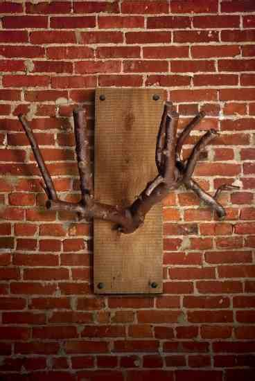 Back On The Racks Branch Nj by Rustic Coat Rack From A Tree Branch Do It Yourself