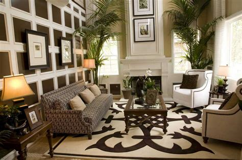 Living Room Rugs by Area Rugs In Living Room With Brown Sofa And Brown Chairs Home Interior Exterior
