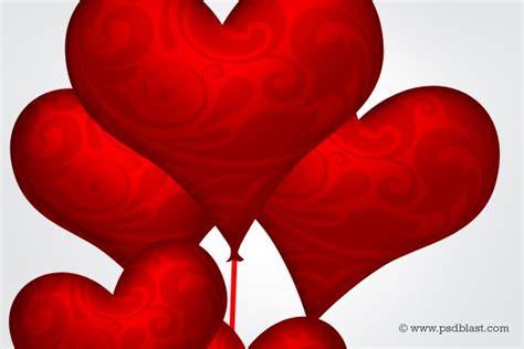 heart pattern psd heart shape balloons valentine design psd vector image