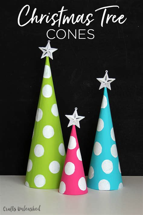 christmas tree tissue paper cone tree craft diy cone trees craft consumer crafts