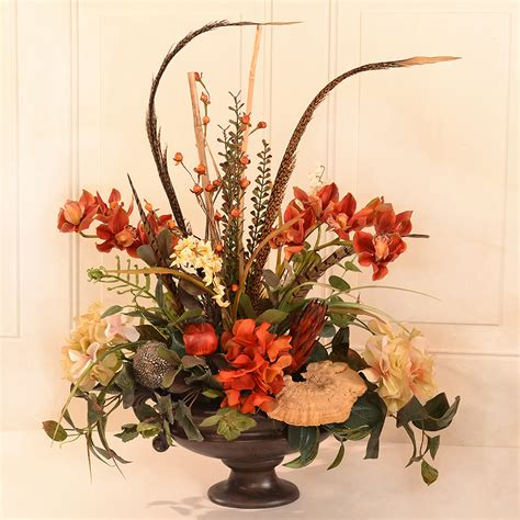 silk arrangements for home decor floral home decor orchid floral design wayfair