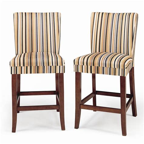 Cheap Bar Stool Chairs by Parson Striped Upholstered Pub Stool Set Of 2 Design