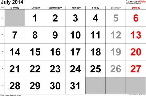 July 2014 Calendar Calendar July 2014 Uk Bank Holidays Excel Pdf Word Templates