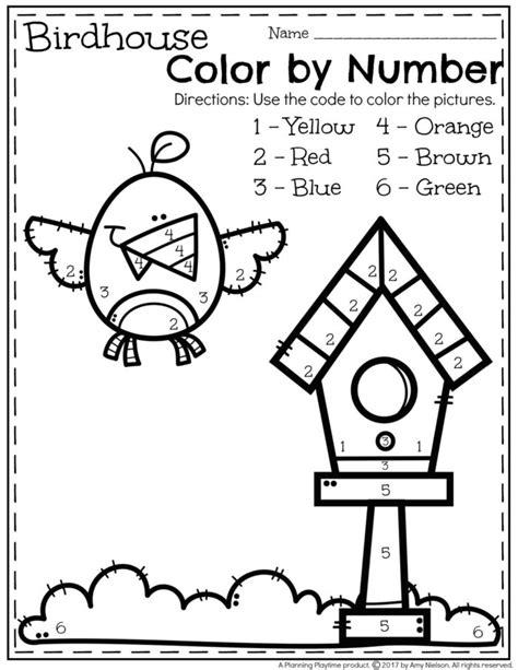 color by number preschool may preschool worksheets planning playtime