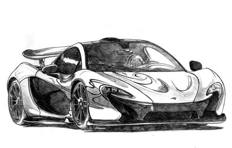 mclaren p1 drawing easy mclaren p1 drawing by bitterfileell on deviantart