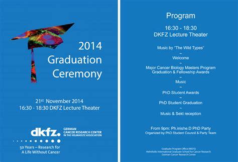 Deutsches Krebsforschungszentrum Graduation Ceremony Program Sle