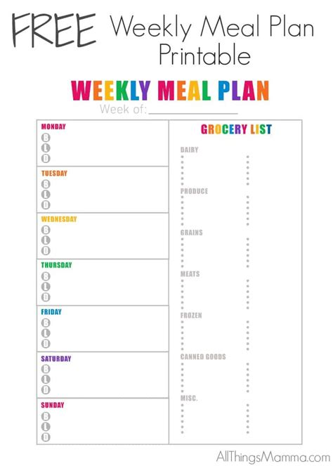 printable meal plan pdf create effortless meals with these 4 easy tips all things