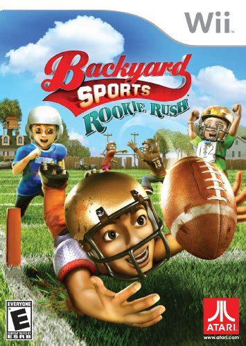 wii backyard sports football rookie backyard