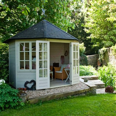backyard house shed country garden with summerhouse garden inspiration