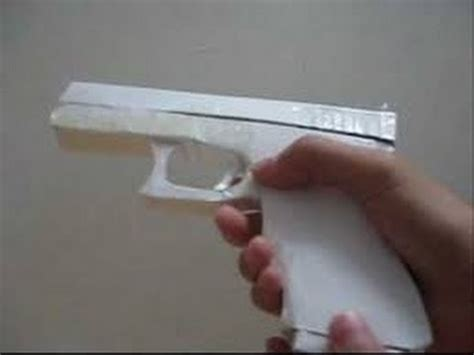 How To Make A Pistol Out Of Paper - how to make a paper gun that shoots fast easy simple