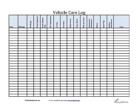 Vehicle Maintenance Schedule Template Excel Schedule Template Free Vehicle Maintenance Log Excel Template