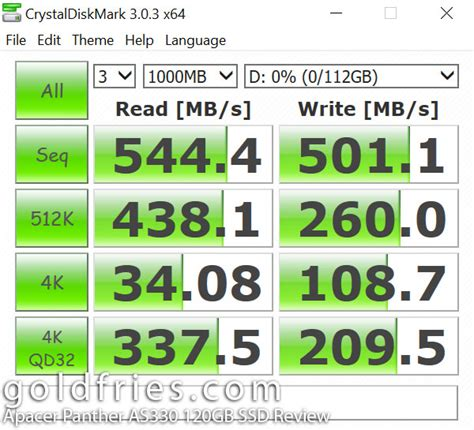 Ssd Apacer Panther A340 120gb Sata apacer panther as330 120gb ssd review goldfries