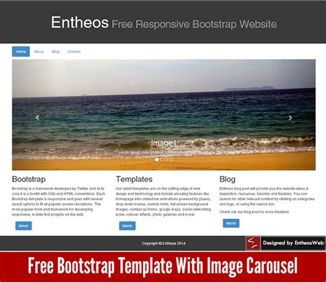 Free Html5 And Css3 Website Templates Entheos Carousel Template Html