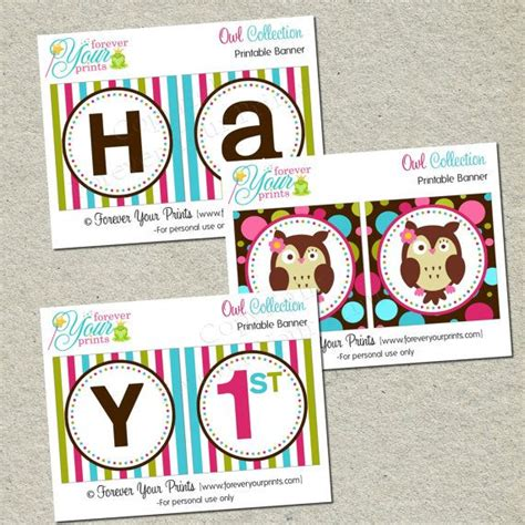printable owl birthday banner 1000 images about owl themed birthday party on pinterest
