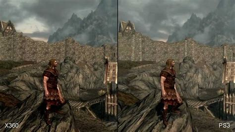 skyrim console ps3 the elder scrolls skyrim ps3 vs xbox 360 graphics