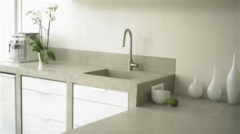 béton ciré plan de travail cuisine beton cire salle de bain couleur