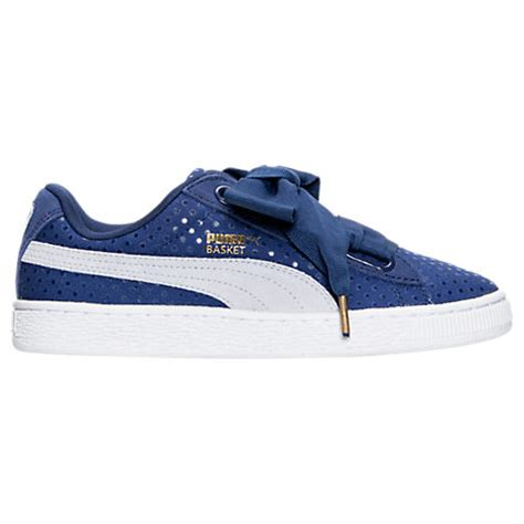 Finish Line Gift Card Code - puma women s basket heart denim casual shoes blue in twilight blue halogen blue