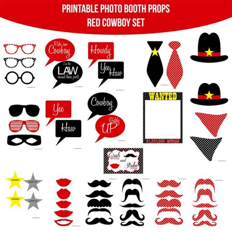 free printable photo booth props cowboy 38 best images about cowboy party on pinterest wild west