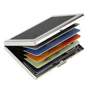 aluminum business card holder waterproof aluminum business id credit card mini wallet