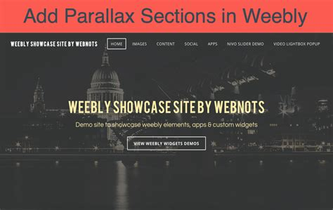 parallax section how to add parallax sections in weebly site 187 webnots