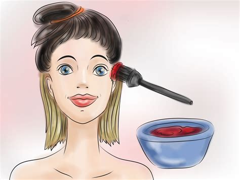 how to dye the top half of your hair how to dye hair bright red under black hair with pictures