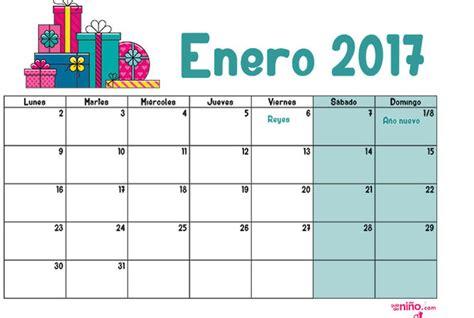 enero 2017 calendario escolar 2016 2017 para imprimir