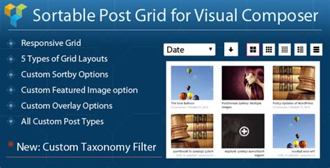 grid layout visual composer visual composer sortable grid taxonomy filter by