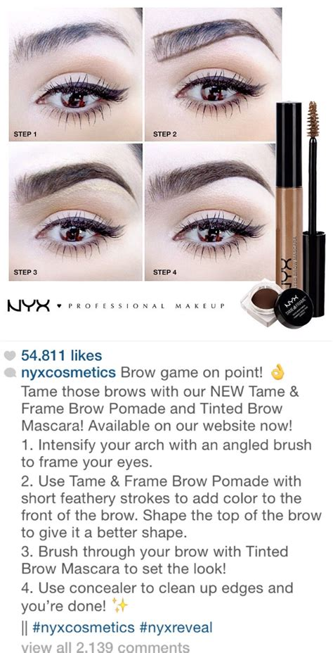 tutorial makeup nyx indonesia nyx instagram tutorial for great eyebrows with their