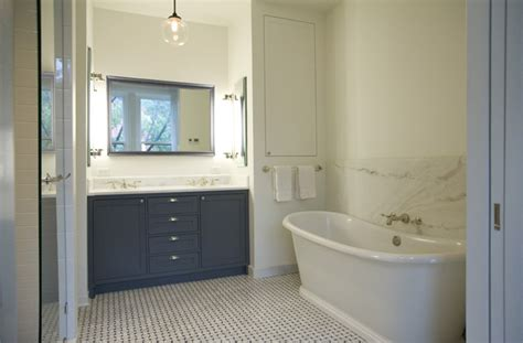 dark gray vanity transitional bathroom elizabeth